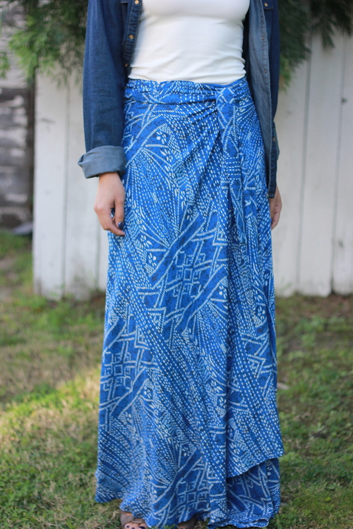 Aegean Sea Wrap Skirt