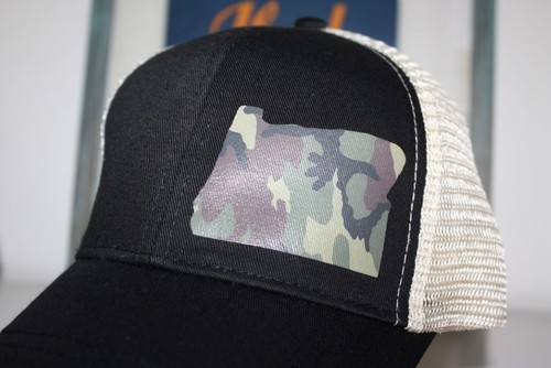 Hank Orange Black w/ Camo Hat