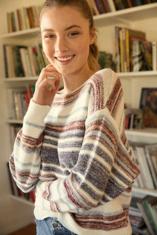 Multi Color Subtle Stripe Sweater