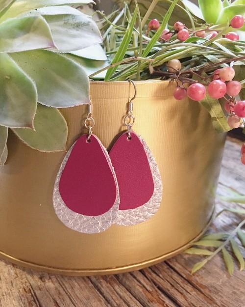 Jillian Made Orchid Silver Double Earrings