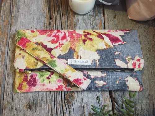 Jillian Made Floral Clutch