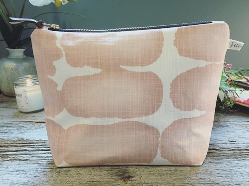 Jillian Made Blush Cosmetic Bag