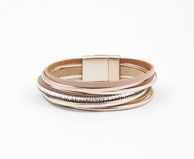 Natural Leather Magnetic Bracelet