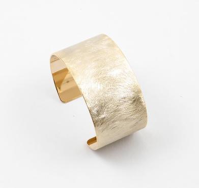 Gold Wide Brushed Cuff