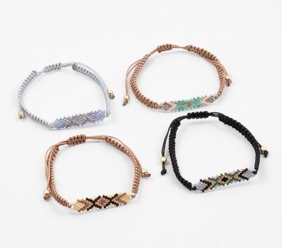 Aztec Woven Pull Bracelet