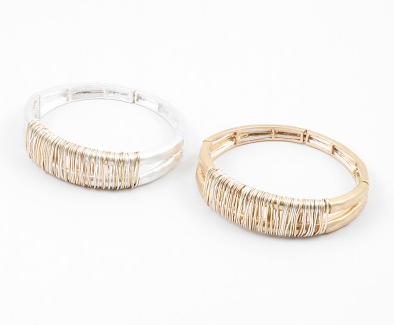 Wire Wrapped Stretch Bracelet