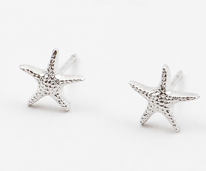 Texture Starfish Stud Sterling