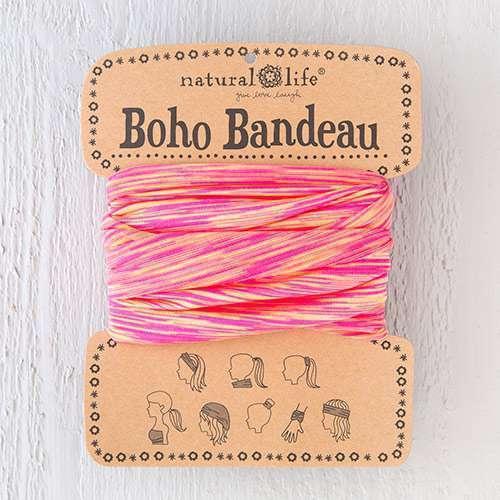 Pink Orange Spandex Boho Bandeau