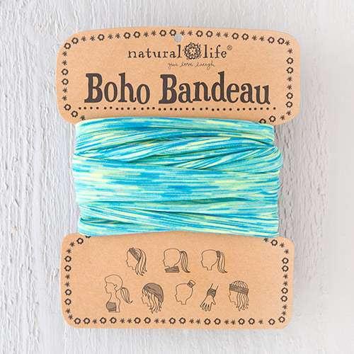 Turquoise Lime Spandex Boho Bandeau