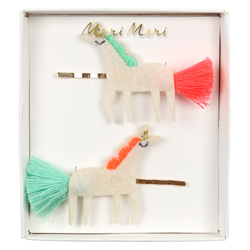 Unicorn With Tails Hair Slide