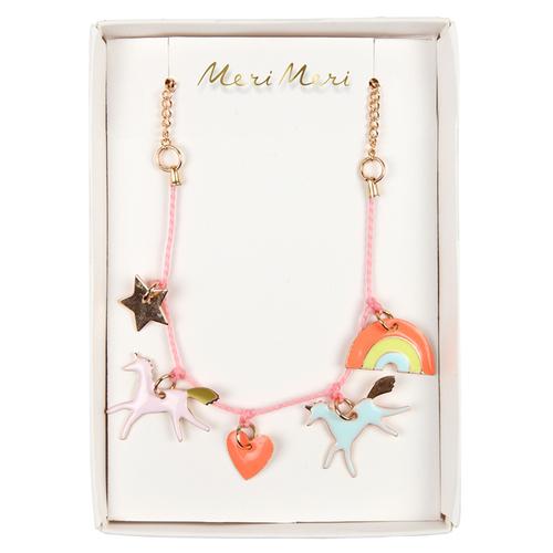 Unicorn Enamel Charm Bracelet