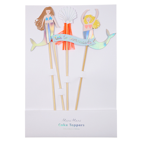 Lets Be Mermaids Cake Topper