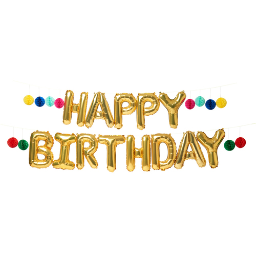 Happy Birthday Balloon Garland