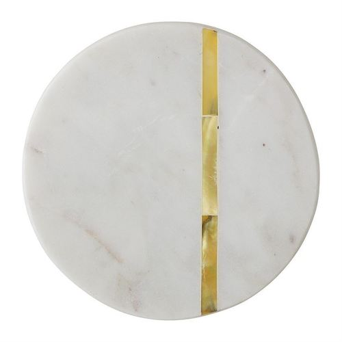 Round Marble Coasters With Mother of Pearl