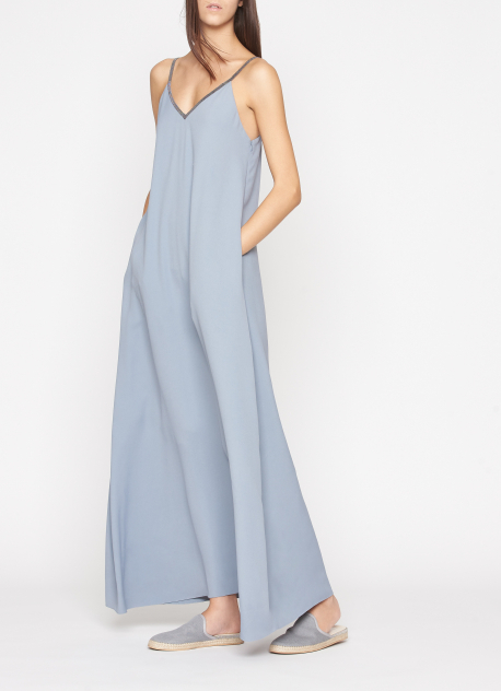 Silk soft Blue dress