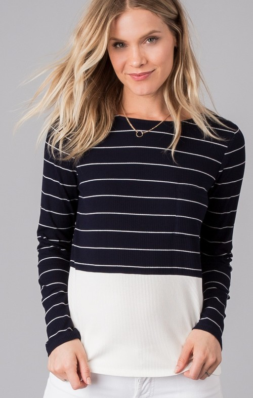 Liv Striped Long Sleeve Top