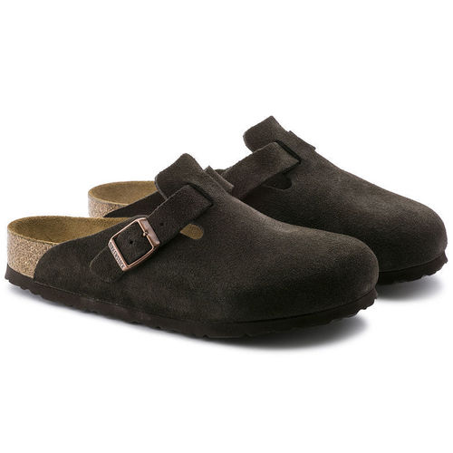 Birkenstock Boston Soft Footbed Mocha Suede