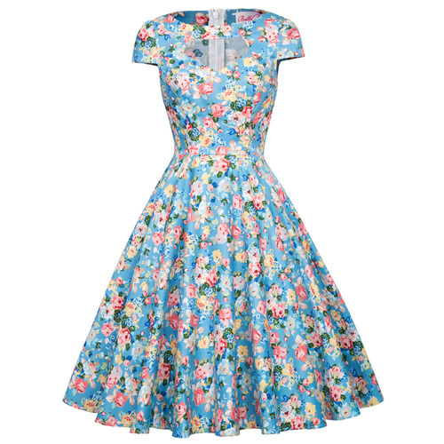 Grace dress in blue floral