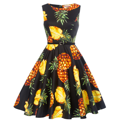 Felicity Dress in pineapple