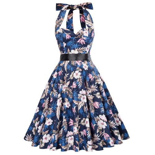 Norma Dress in tropical floral