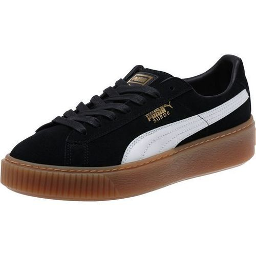 Puma Suede Platform Core Black   White By Puma  5f8665975