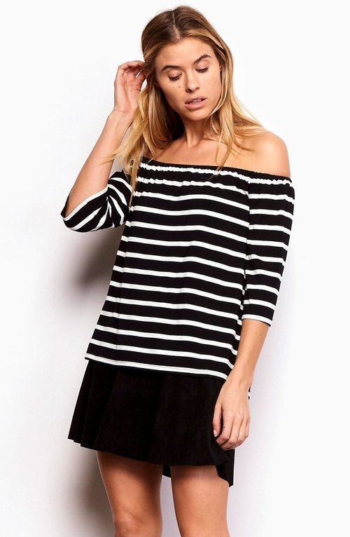 Adley Striped Off Shoulder Top