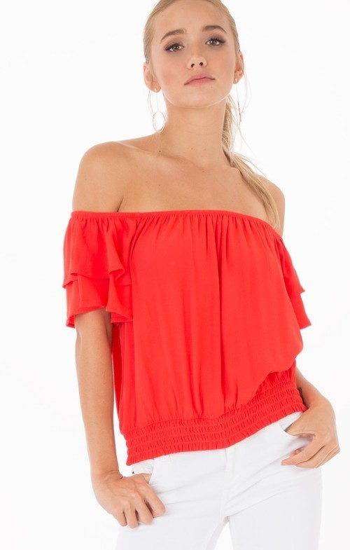 Aurora Poppy Red Blouse