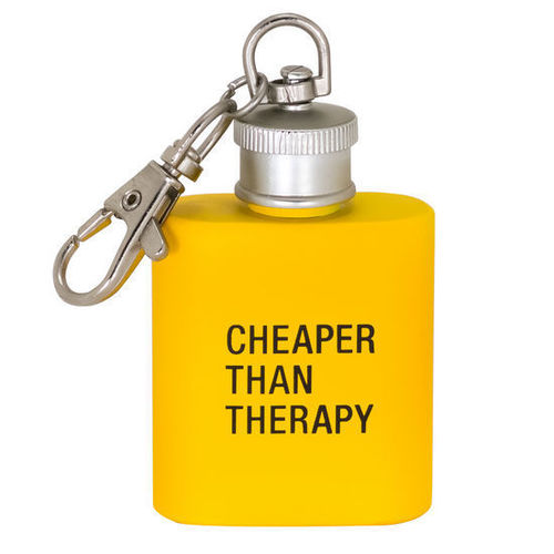 Therapy Key Ring Flask