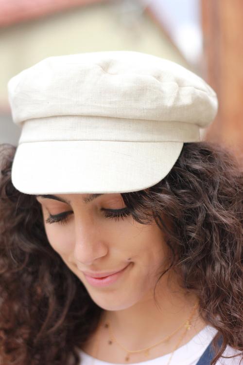 Linen Captain's Cap