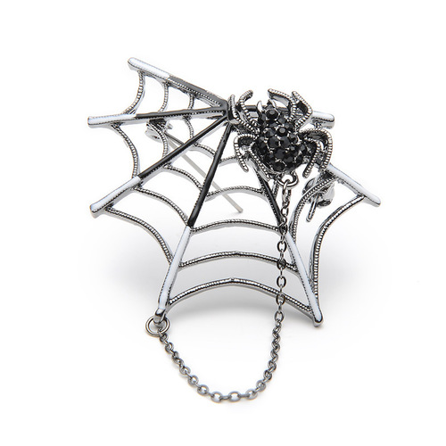 Caught in a Web Brooch (Pink or Black)