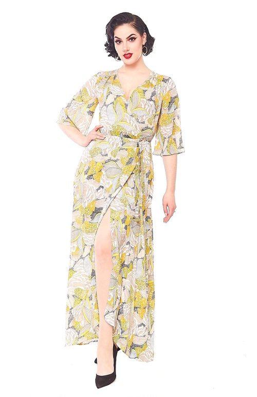 Eartha Maxi Dress in Polynesian floral