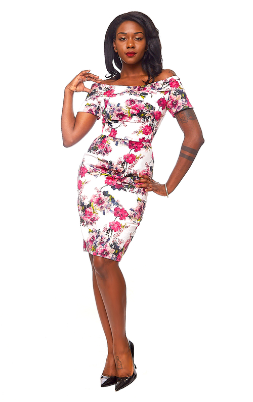 Selma Dress in Pink Floral