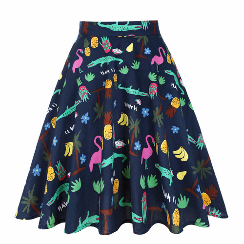 Cory Skater Skirt- Hawaii Jungle Print