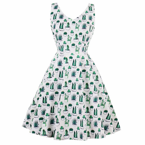 Shelley Dress in Cactus Print