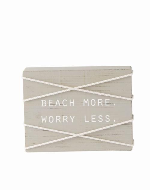 Beach More Block Plaque