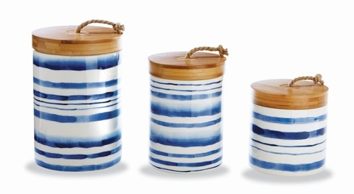 Water Stripe Canister Set