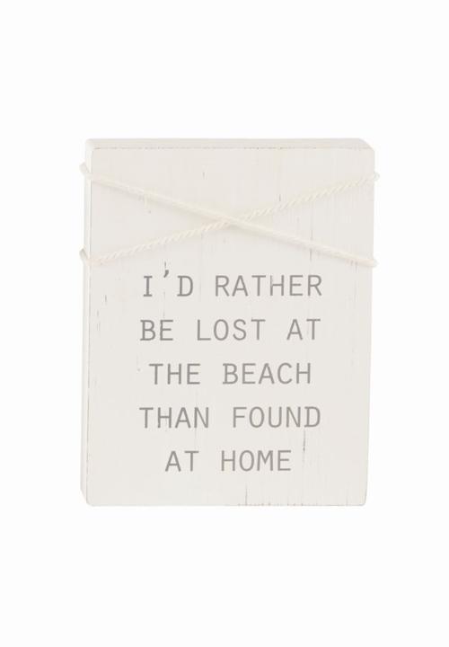 At Home Beach Block Plaque