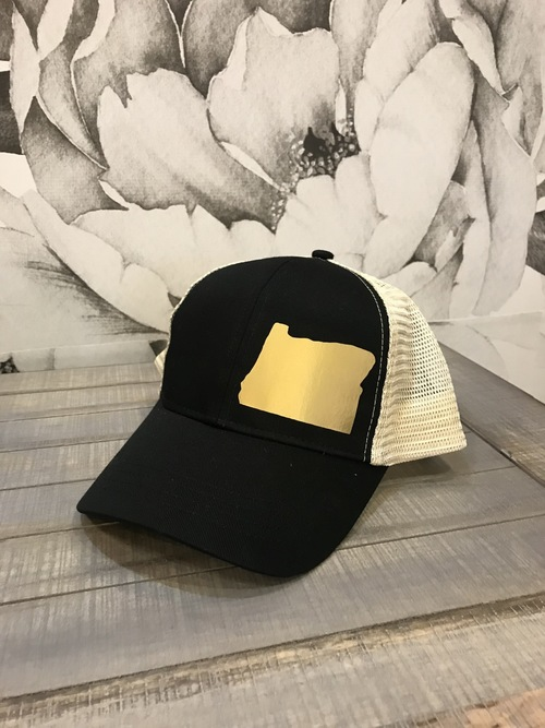 Hank Orange Black Hat w/ Gold Matte