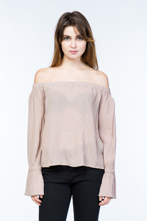 Bell Sleeve Off The Shoulder Top
