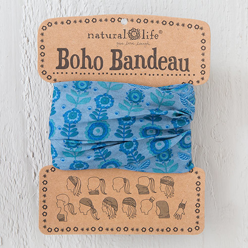 Blue Daisy Boho Bandeau