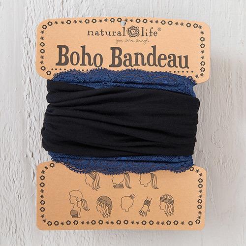 Black Navy Lace Boho Bandeau