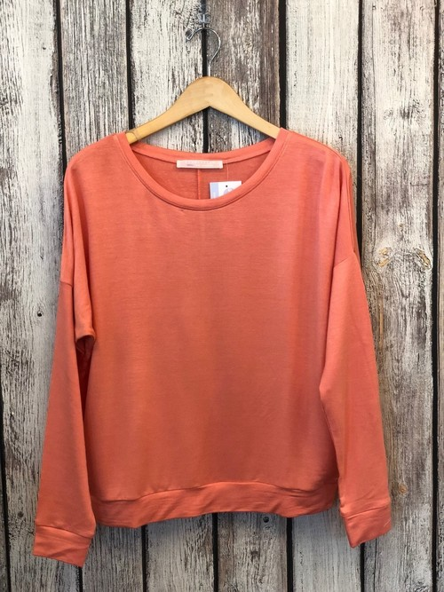 Peach French Terry Pullover