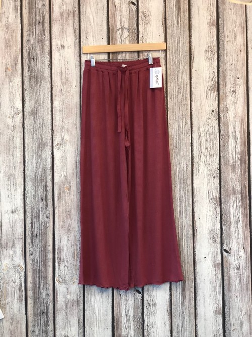Red Garnet Knit Lounge Pants