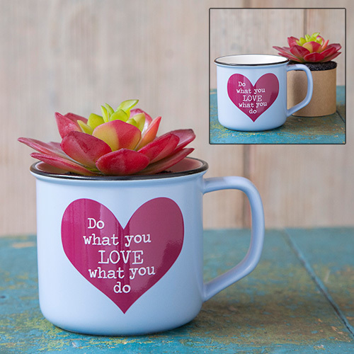 Do What You Love 2in1 Mug Succulent