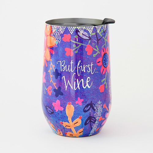 But First Wine Wine Tumbler