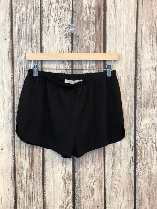 Black Knit Lounge Shorts