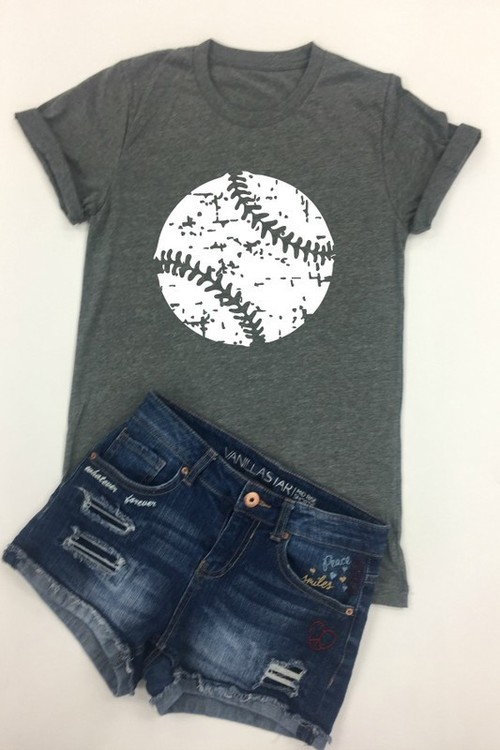 Baseball White Ink Tee