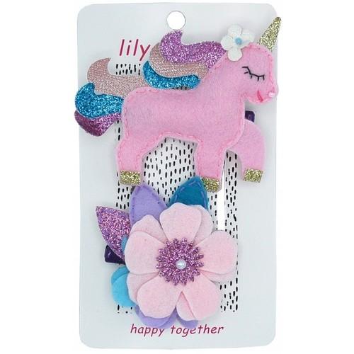 Pretty Pastel Unicorn Hair Clip Set