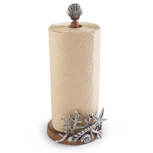 Coral Starfish Paper Towel Holder