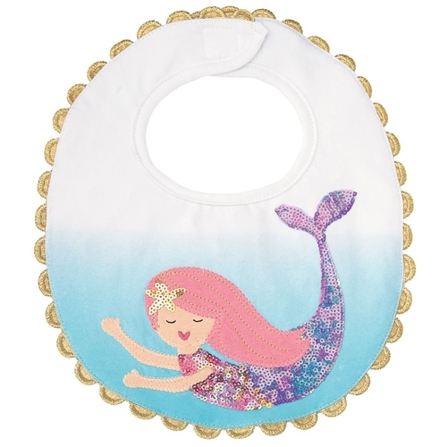 Blue Mermaid Bib